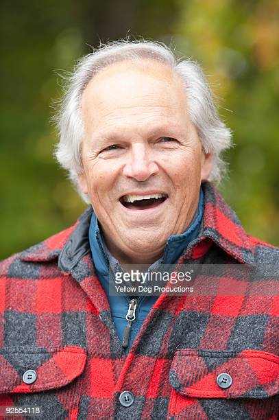 Portrait of Boomer Man Laughing