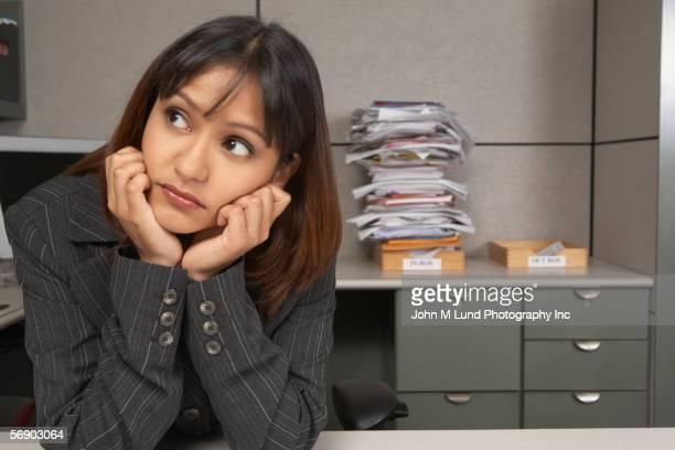 Portrait of bored businesswoman
