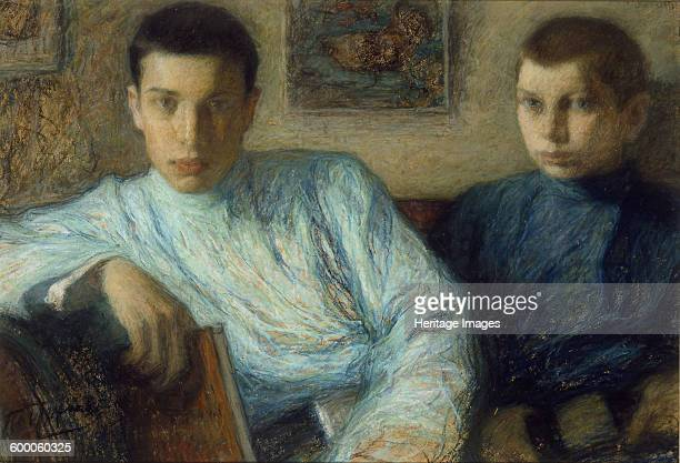 Portrait of Boris and Alexander Pasternak 1905 Found in the collection of Ashmolean Museum Oxford Artist Pasternak Leonid Osipovich
