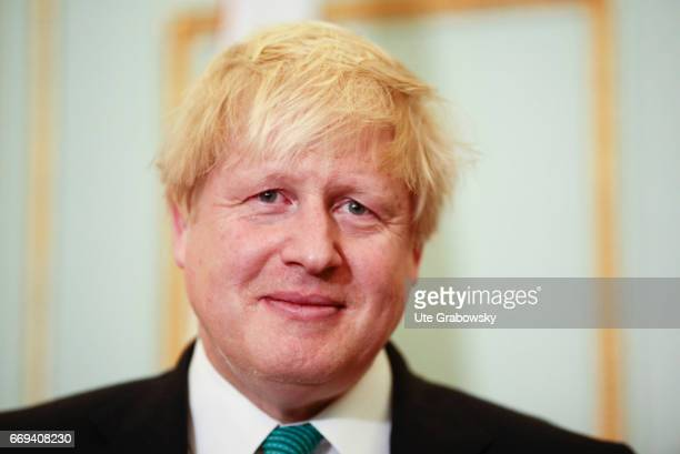 Portrait of Boris Johnson Foreign Minister of the United Kingdom of Great Britain and Northern Ireland on April 04 2017 in London Great Britain