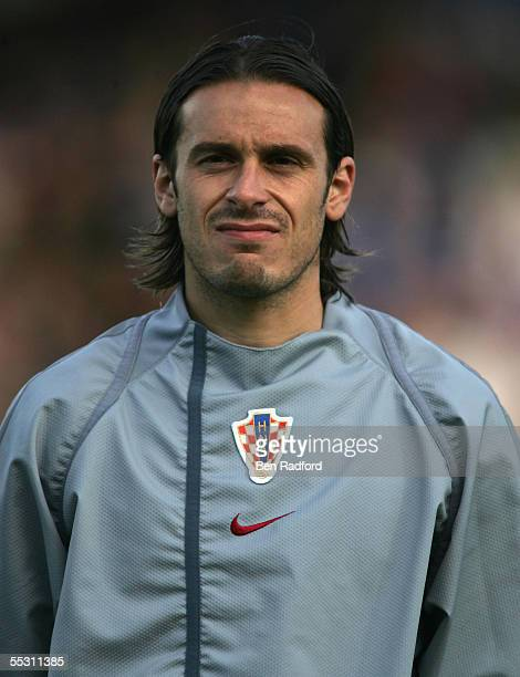 A portrait of Bosko Balaban of Croatia team prior to the 2006 World Cup qualifying match between Iceland and Croatia at Laugardalsvollur Stadium on...