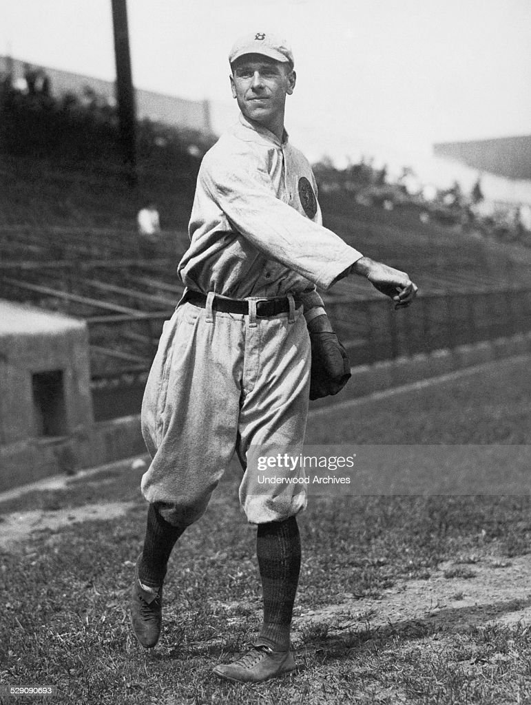 A portrait of Boston Braves center fielder Fred Snodgrass, Boston, Massachusetts, circa 1915.