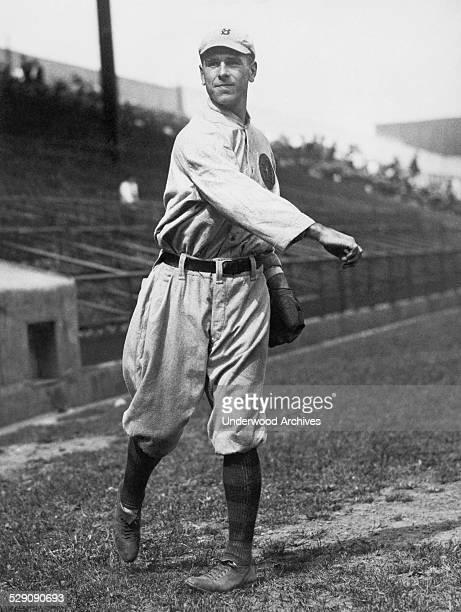 A portrait of Boston Braves center fielder Fred Snodgrass Boston Massachusetts circa 1915