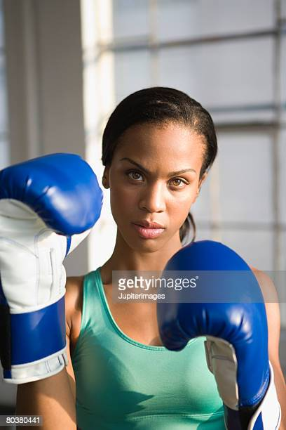 portrait of boxer - fighting stance stock pictures, royalty-free photos & images