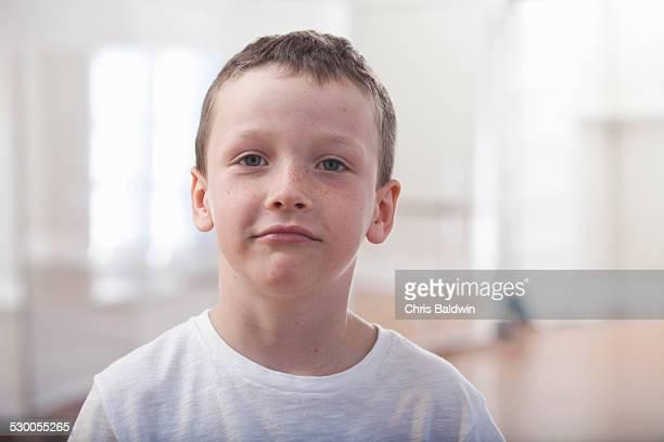 Portrait of boy in ballet school