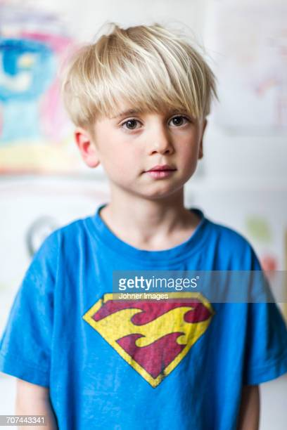 Portrait of boy in blue t-shirt