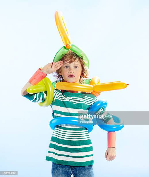 Portrait of boy in fancy dress