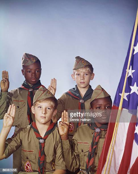 Portrait of boy scouts