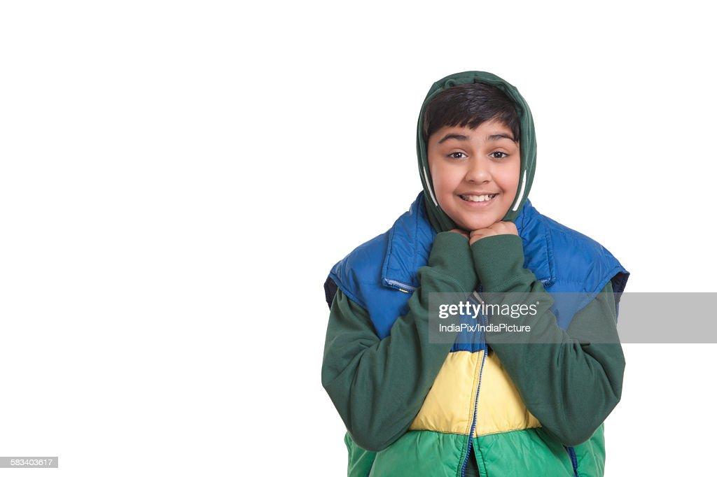 Portrait of boy smiling : Stock Photo