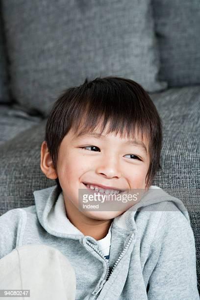 Portrait of boy, smiling
