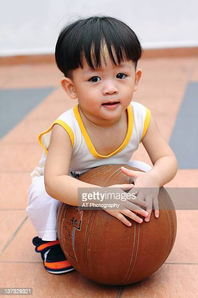 Portrait of boy with football