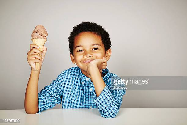 Portrait of boy with ice-cream