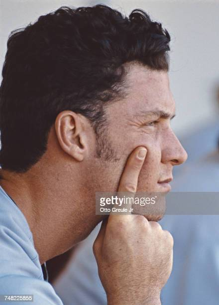 Portrait of Brady Anderson left fielder for the Baltimore Orioles during the Major League Baseball American League West game against the Oakland...
