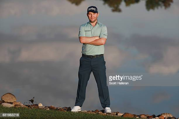 A portrait of Branden Grace of South Africa during the proam prior to the start of the Abu Dhabi HSBC Championship at Abu Dhabi Golf Club on January...