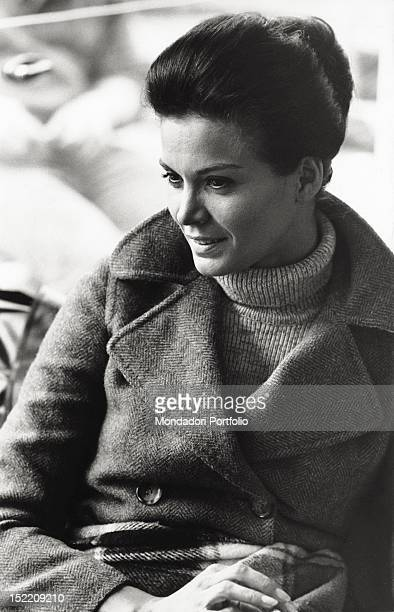 Portrait of Brazilian actress Florinda Bolkan smiling Venice 1970s