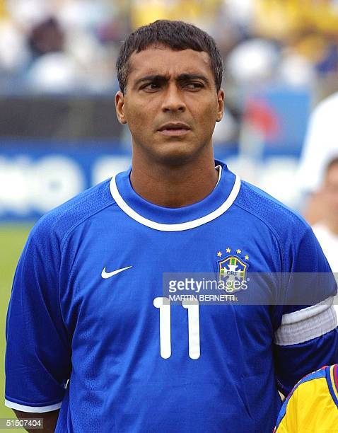 Portrait of Brazilian forward Romario taken 28 March 2001 in Quito before the 2002 World Cup qualifying soccer match between Ecuador and Brazil