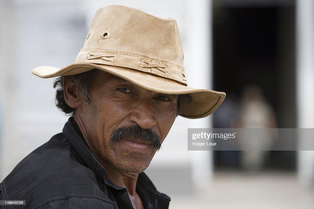 Portrait of Brazilian man with cowboy hat.   Stock Photo c9e3808bb38