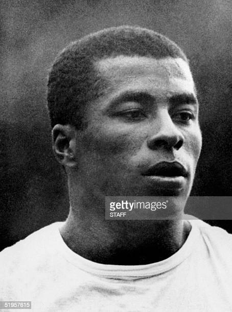 Portrait of Brazilian national soccer team forward Janrzinho taken 29 May 1970 in Mexico City two days before the opening of the World Cup AFP PHOTO
