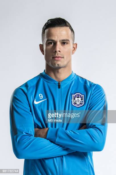 **EXCLUSIVE** Portrait of Brazilian soccer player Johnathan Aparecido da Silva commonly known as Johnathan of Tianjin TEDA FC for the 2018 Chinese...
