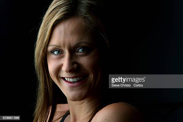 Portrait of Breaststroker Lorna Tonks at the Brisbane Aquatic Centre Brisbane Australia Sunday 6th April 2014