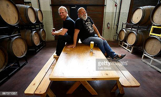 LOS ANGELES CALIF MAY 1 2013 Portrait of brewmaster Dieter Foerstner left and owner Alan Newman at the new Angel City brew pub in downtown Los Angeles