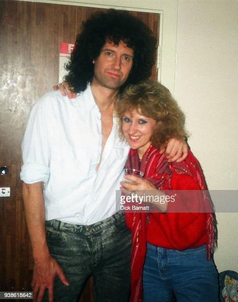 Portrait of Brian May and Anita Dobson London circa 1985