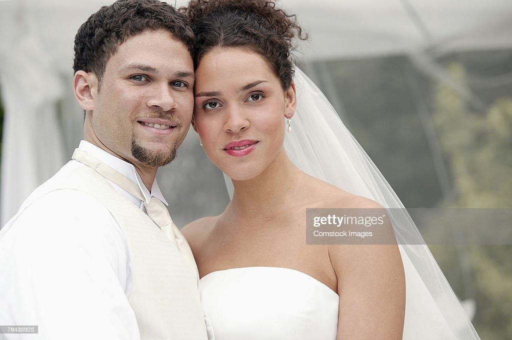 Portrait of bride and groom : Stockfoto