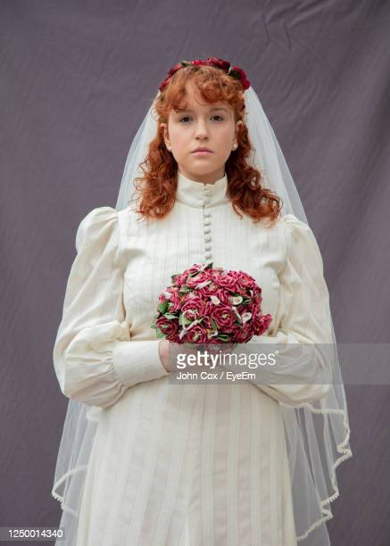 portrait of bride in wedding dress - fringe dress stock pictures, royalty-free photos & images
