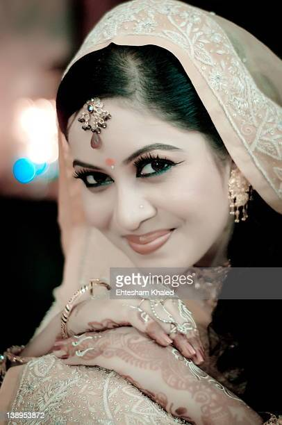 portrait of bride - bangladeshi bride stock photos and pictures