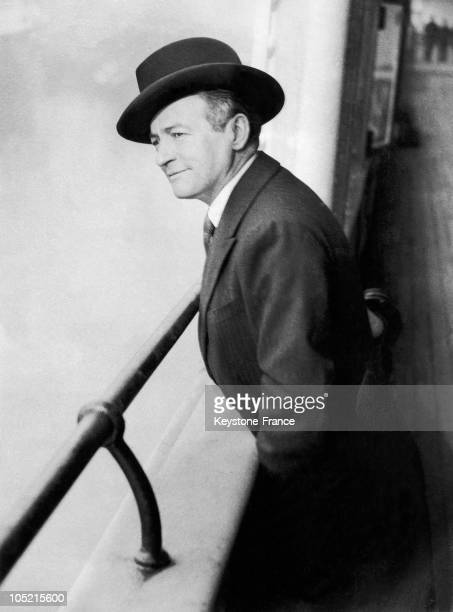 Portrait Of British Actor Claude Rains Onboard The Steamer Majestic Taking Him To The United States From Southampton March 13 1935