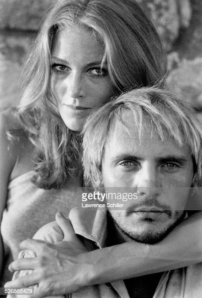 portrait of british actors terence stamp and joanna pettet