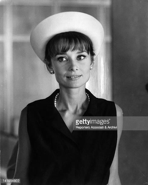 Portrait of British actress Audrey Hepburn 1965