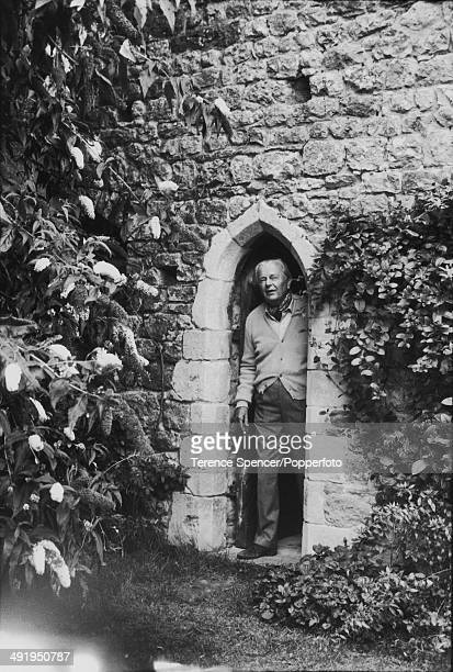 Portrait of British art historian and author Sir Kenneth Clark in his home, Saltwood Castle, Saltwood, Kent, England in 1977.