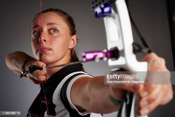 Portrait of British athlete Bryony Pitman, photographed in Bath, England, on June 29, 2017. Pitman is best known as a recurve archer and a member of...