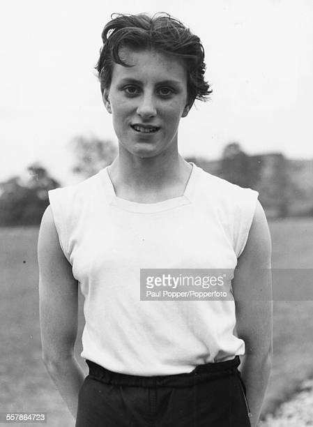Portrait of British athlete Dorothy Hyman 100 yards and 220 yards womens' sprint champion circa 1959