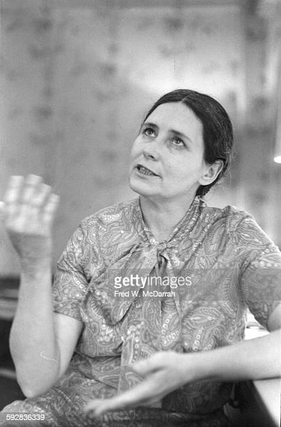 Portrait of British author and playwright Doris Lessing New York New York May 18 1969