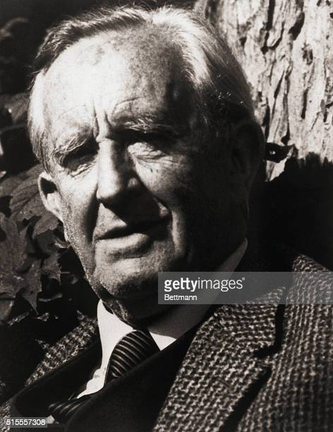Portrait of British author JRR Tolkien Undated photograph filed 1/31/1979