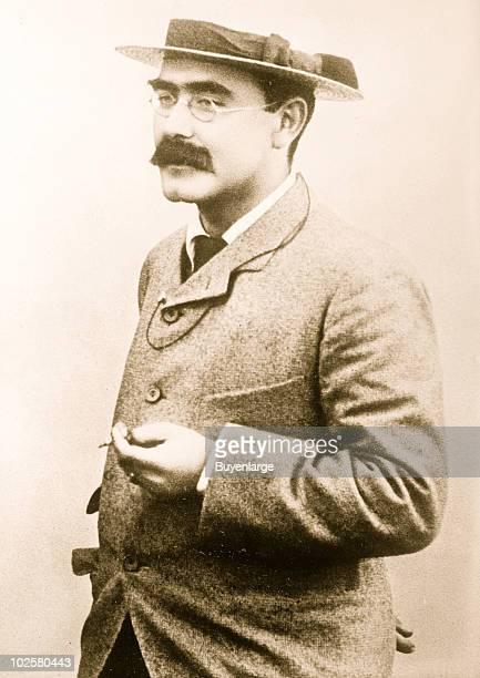 Portrait of British author Rudyard Kipling , ca.1899.
