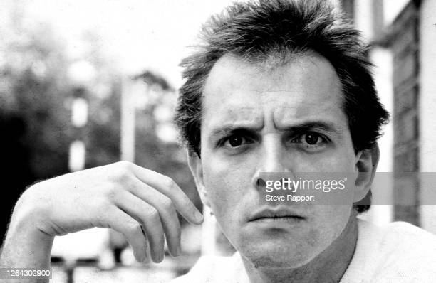 Portrait of British comedian and actor Rik Mayall in Covent Garden, London, mid 1980s.