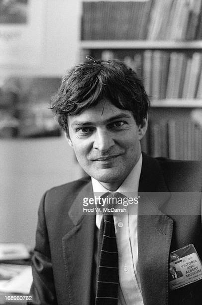 Portrait of British curator at the Victoria Albert Museum Mark HaworthBooth London England April 22 1985