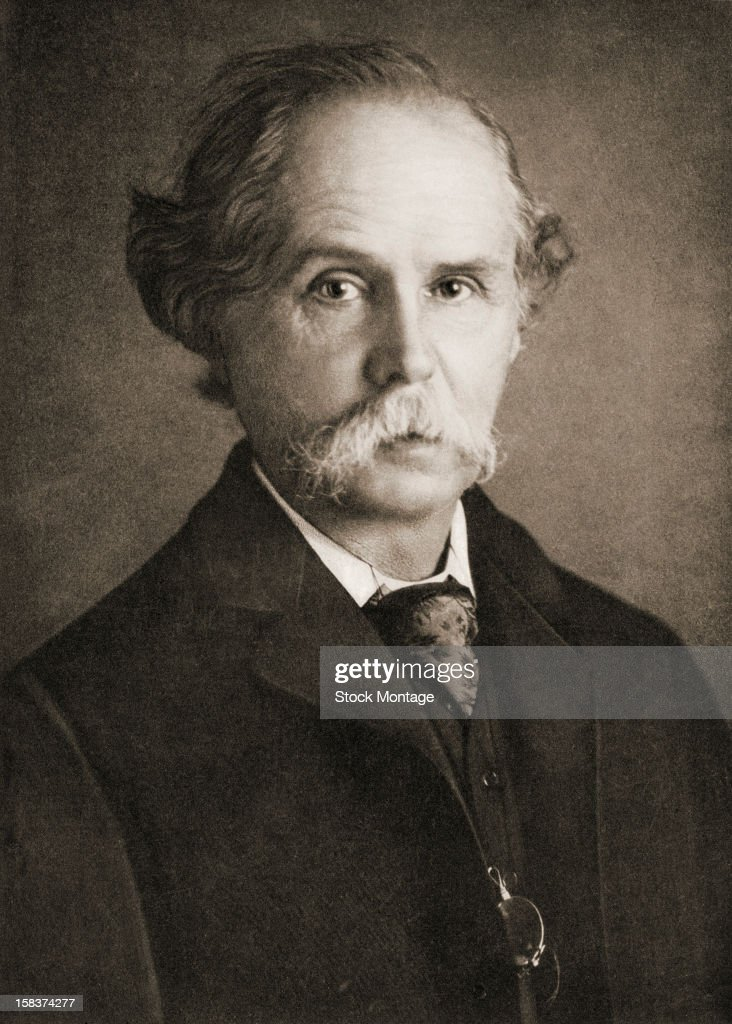 Portrait of British economist and author Alfred Marshall , late ...