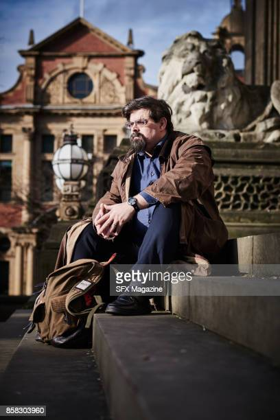 Portrait of British fantasy and science fiction author Adrian Tchaikovsky photographed at Leeds Town Hall on February 3 2017