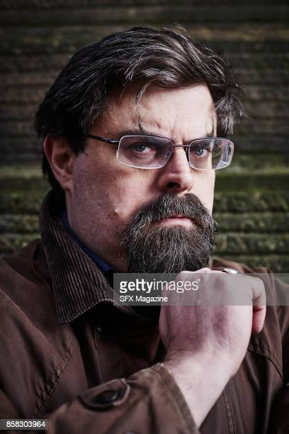 Portrait of British fantasy and science fiction author Adrian Tchaikovsky photographed in Leeds town centre on February 3 2017