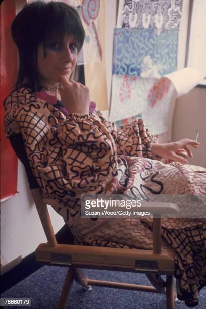 Portrait of British fashion designer Zandra Rhodes 1970
