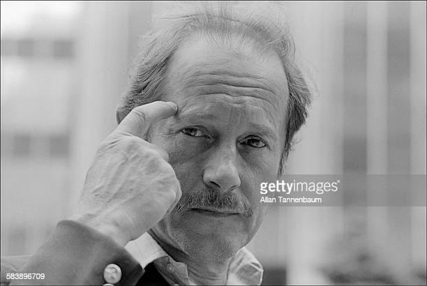 Portrait of British film director Nicolas Roeg as he promotes his film 'Bad Timing' in midtown Manhattan, New York, New York, June 22, 1979.