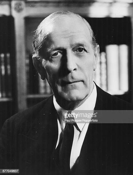 Portrait of British Labour Party politician and Lord High Chancellor William Jowitt posed circa 1948