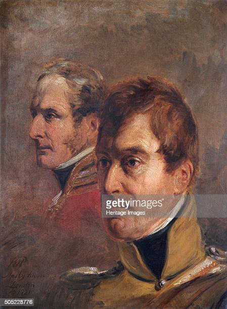 Portrait of British MajorGenerals Sir Frederick Ponsonby Sir Colin Campbell 1821 Both Ponsonby and Campbell served at the Battle of Waterloo in 1815...