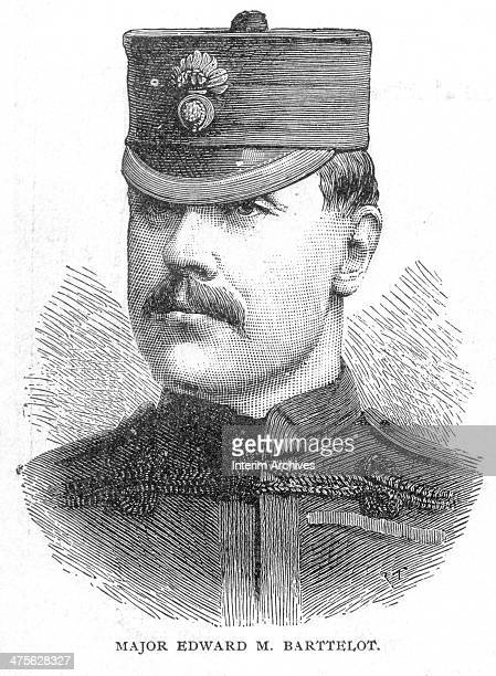 Portrait of British military commander Major Edward Barttelot who led Stanley's Rear Column during the Emin Pasha Relief Expedition nineteenth...