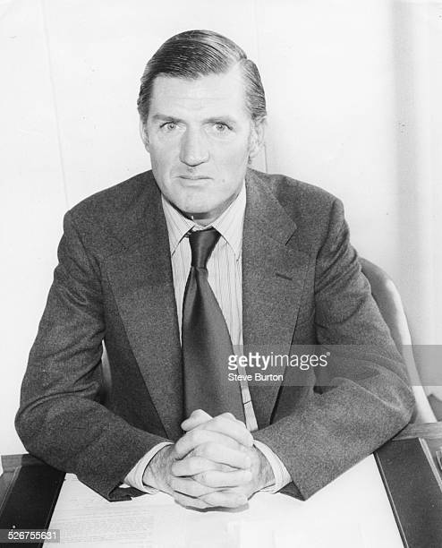 Portrait of British Minister for Trade Cecil Parker sitting at his desk May 1979