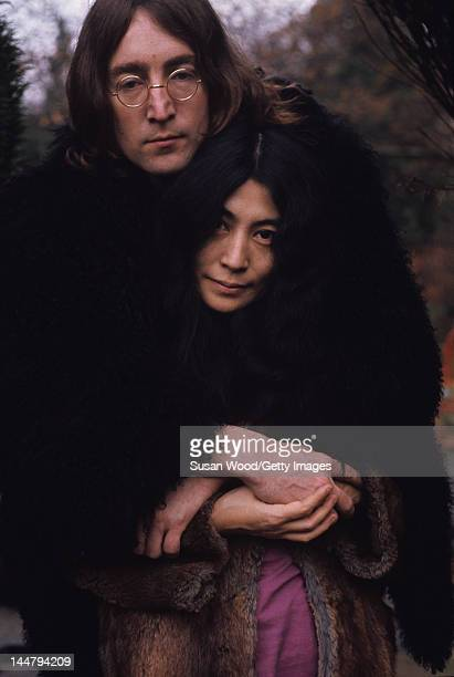 Portrait of British musican and artist John Lennon and Japaneseborn artist and musician Yoko Ono December 1968